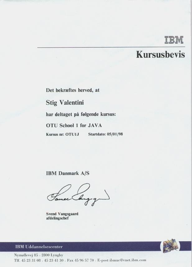 OTU1 Java, part two, 1997